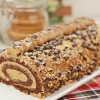 Mocha Swiss Roll (Yule Log Cake)
