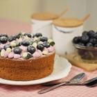Blackcurrant (Ribena) Sponge Cake