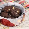 Double Chocolate Cranberry Almond Cookies - Christmas