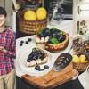 Honey Blueberry Cheesecake with Panasonic Cubie Oven