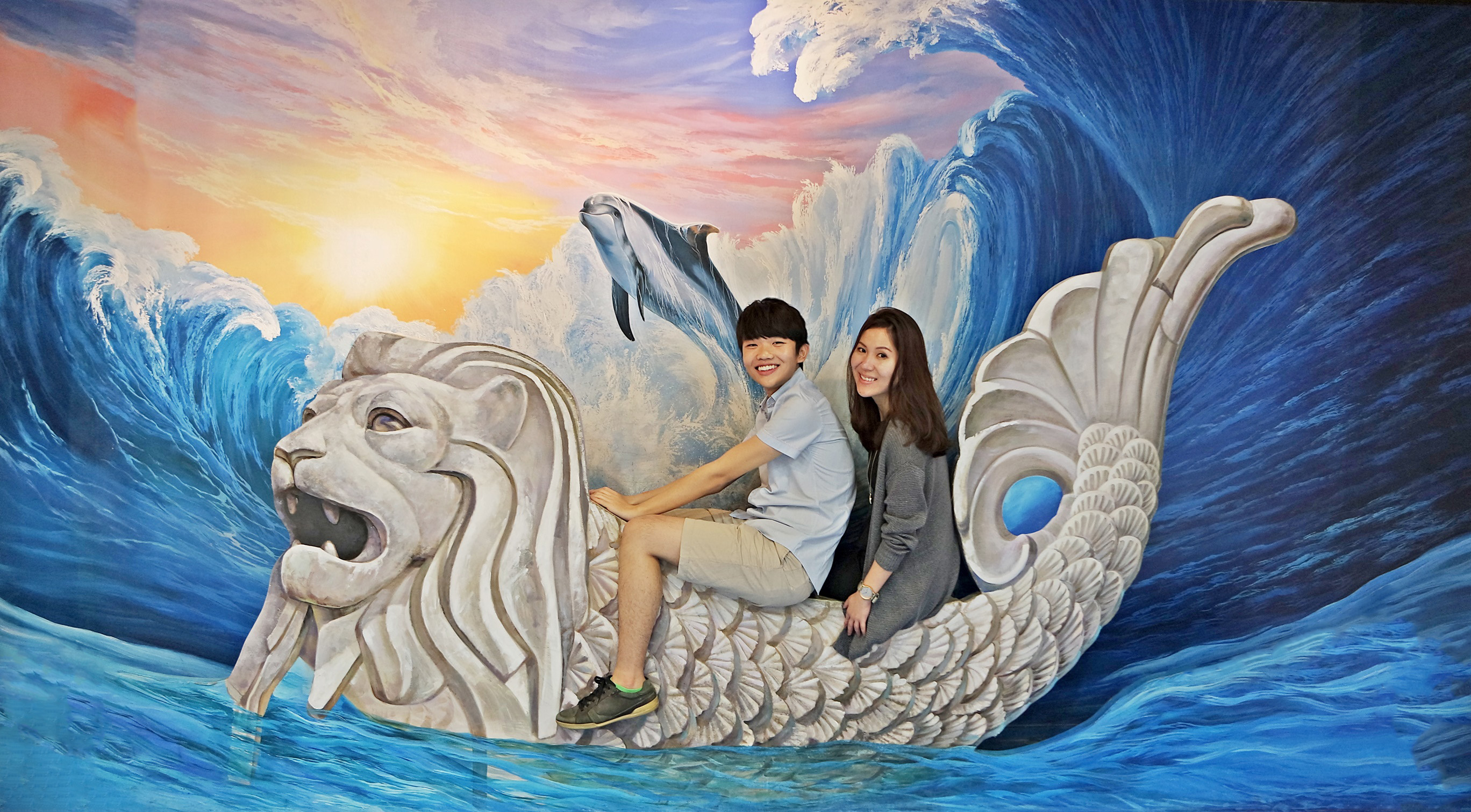 Pleased To Find A Merlion Boat Inside The Museum Now I Can Ride Hahahaha