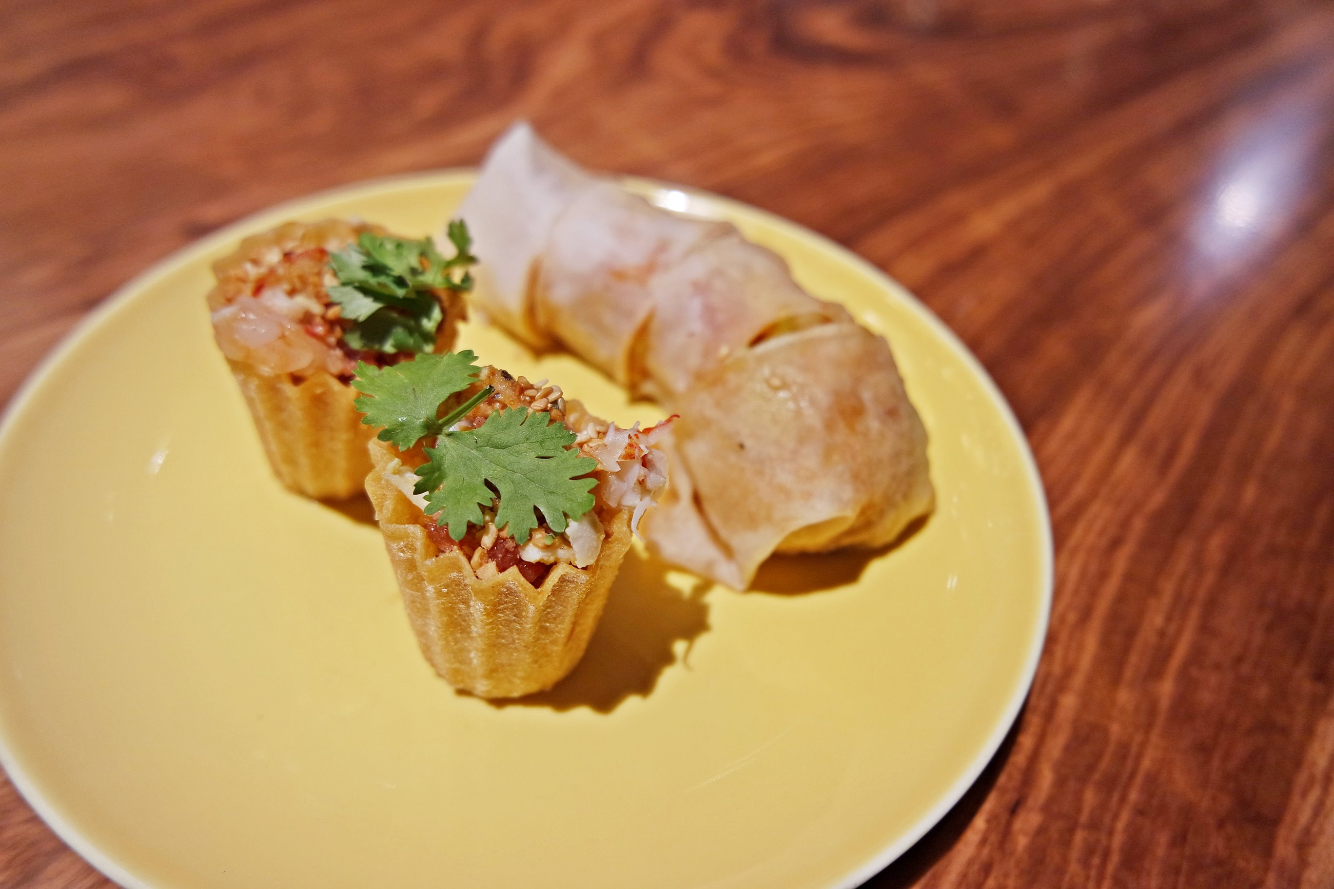 Crab Popiah and Lobster Kueh Pieti