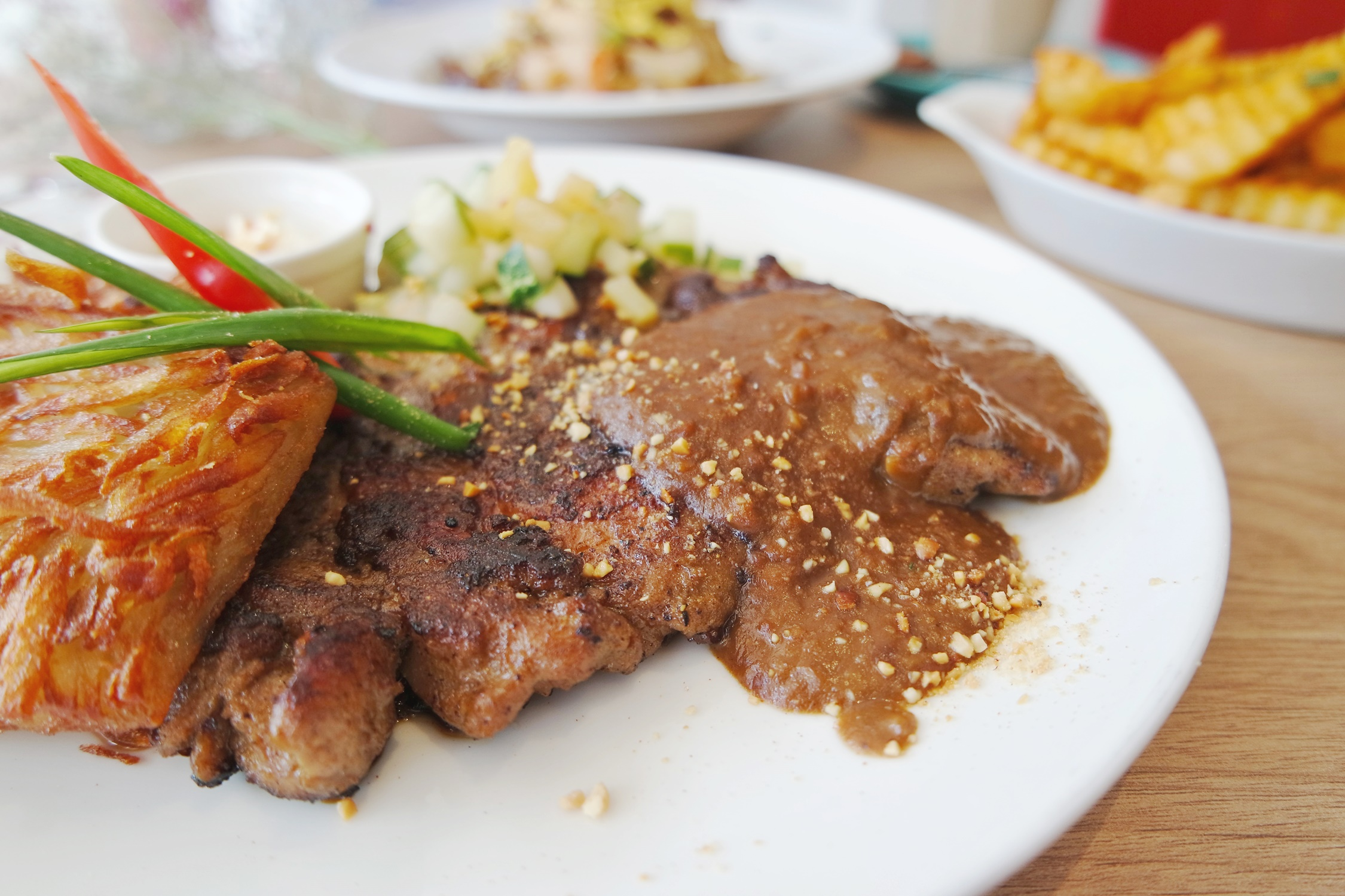 Chicken Chop with Satay Sauce