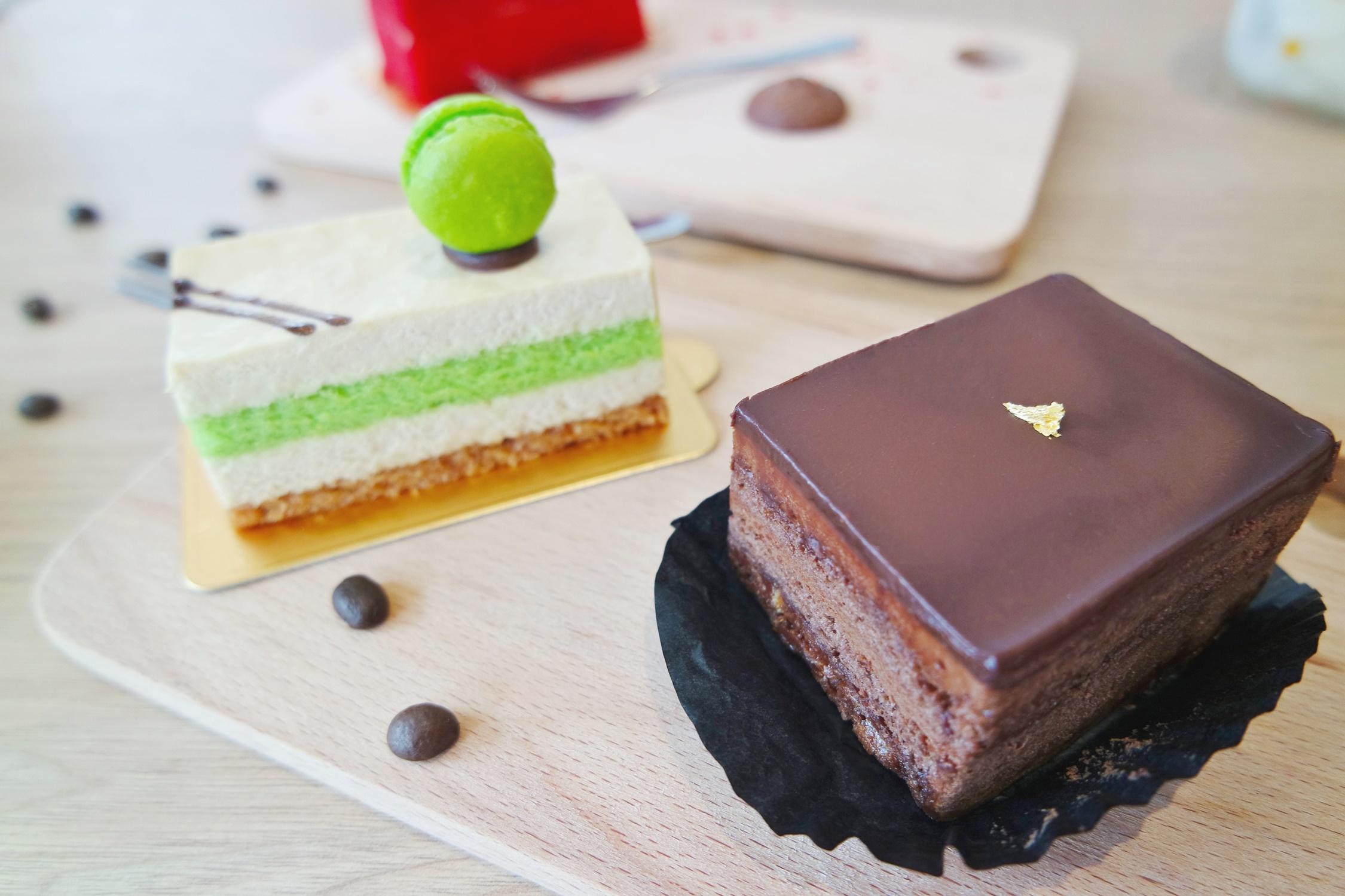 Chocolate Cake and Gula Melaka Cake