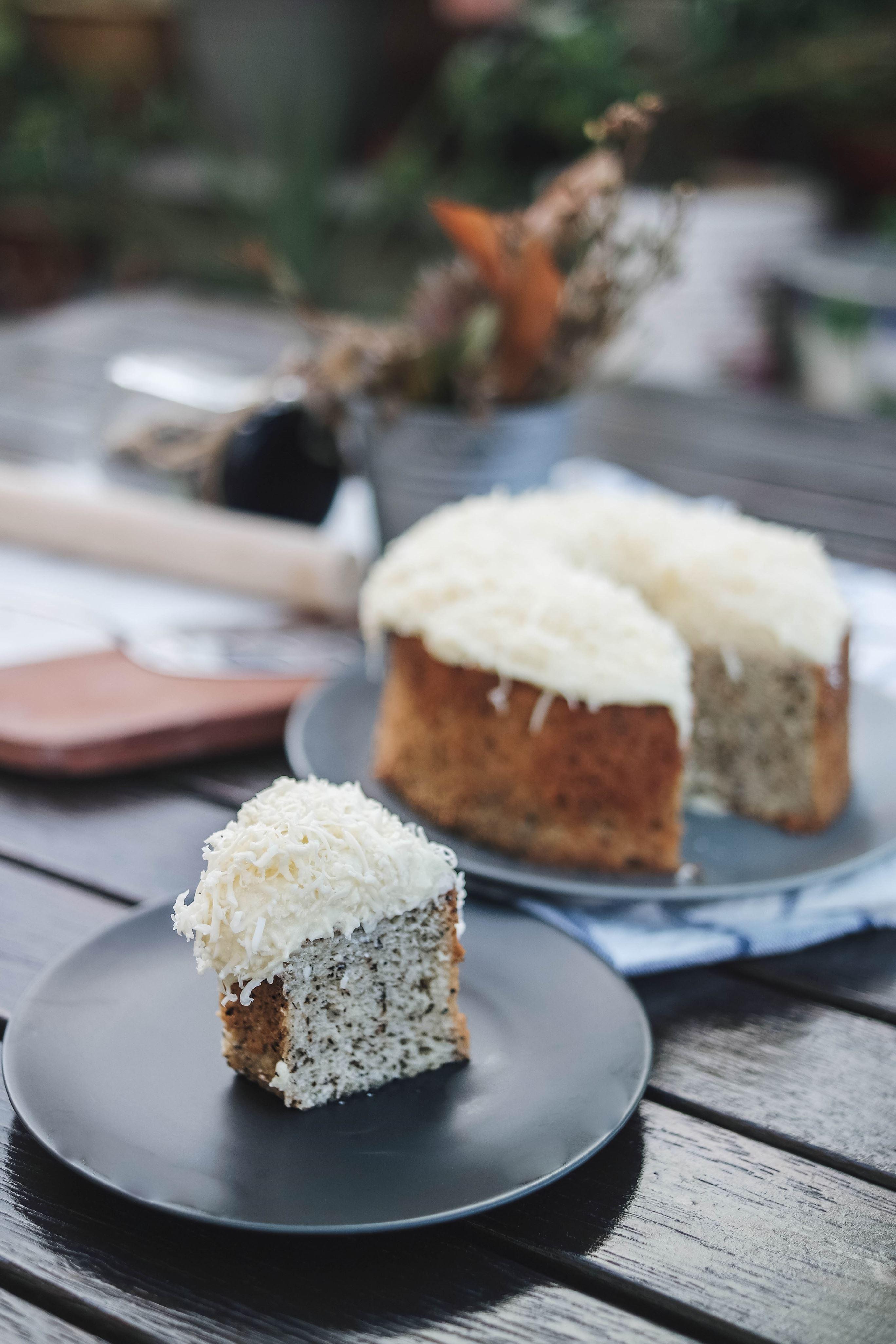 Jasmine Green Tea Chiffon Cake with Cheese