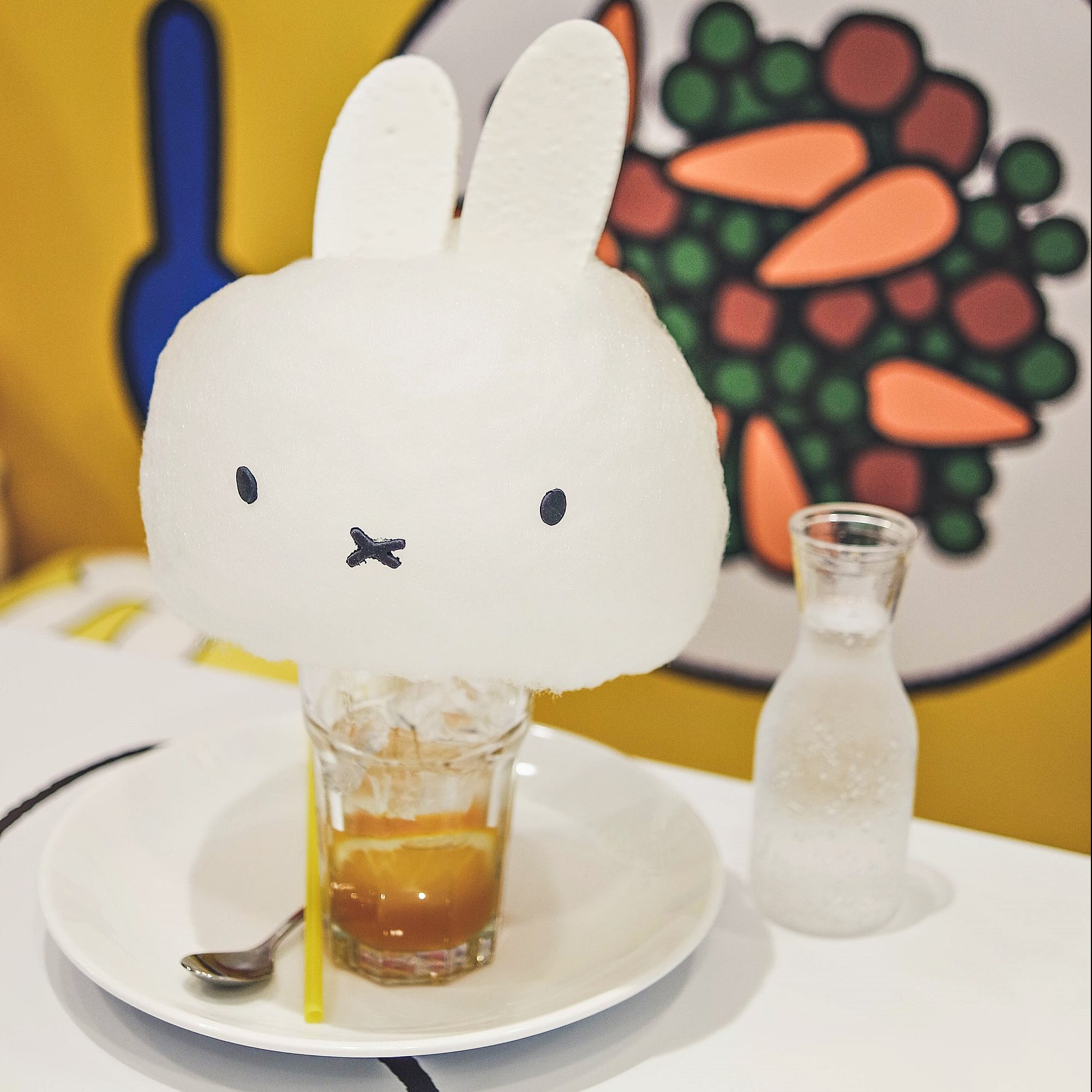 Miffy Original Orange Soda - Miffy Character Themed Cafe - Kumoya