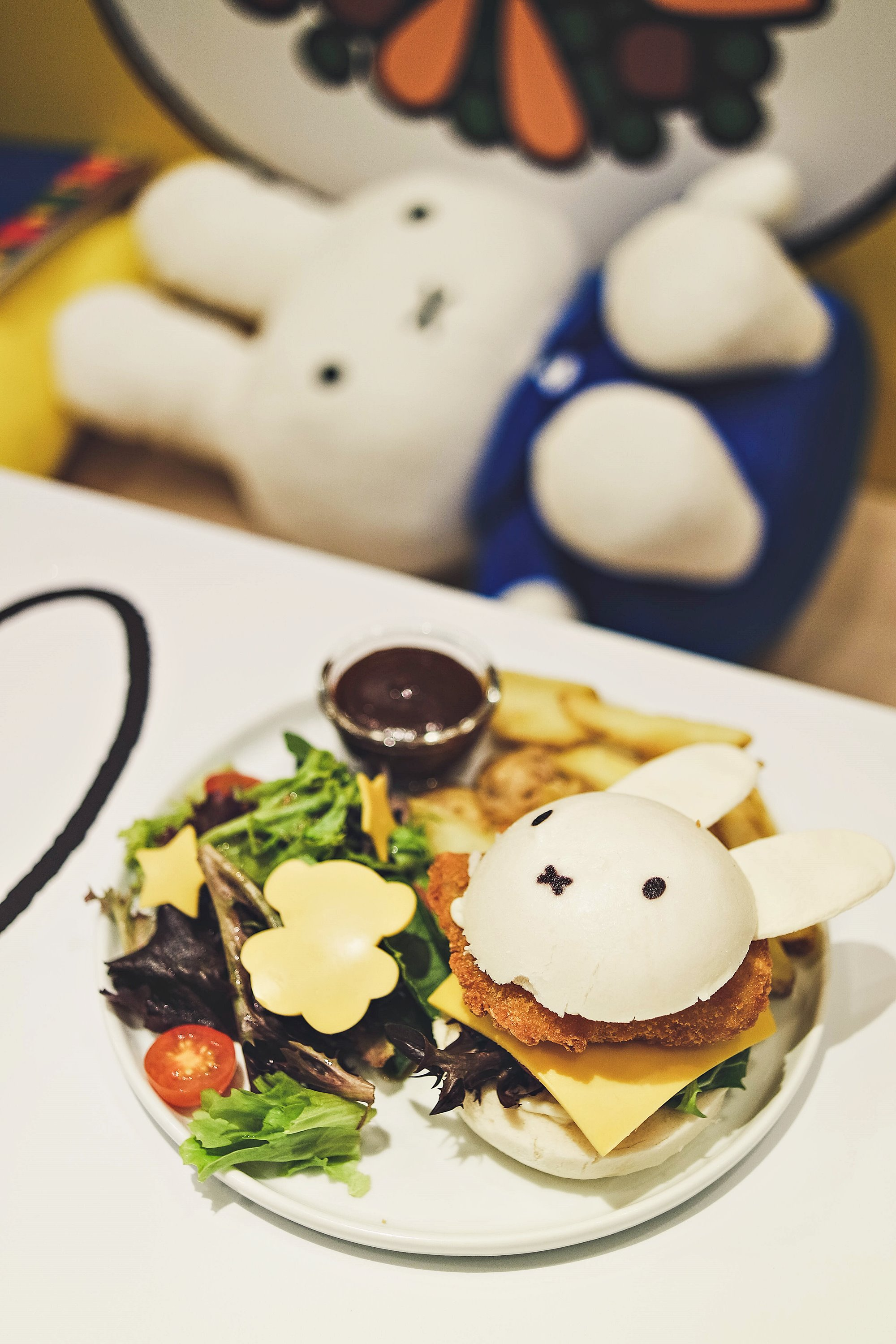 You, Me & Miffy Makes 3 Chicken Katsu Burger - Miffy Character Themed Cafe - Kumoya