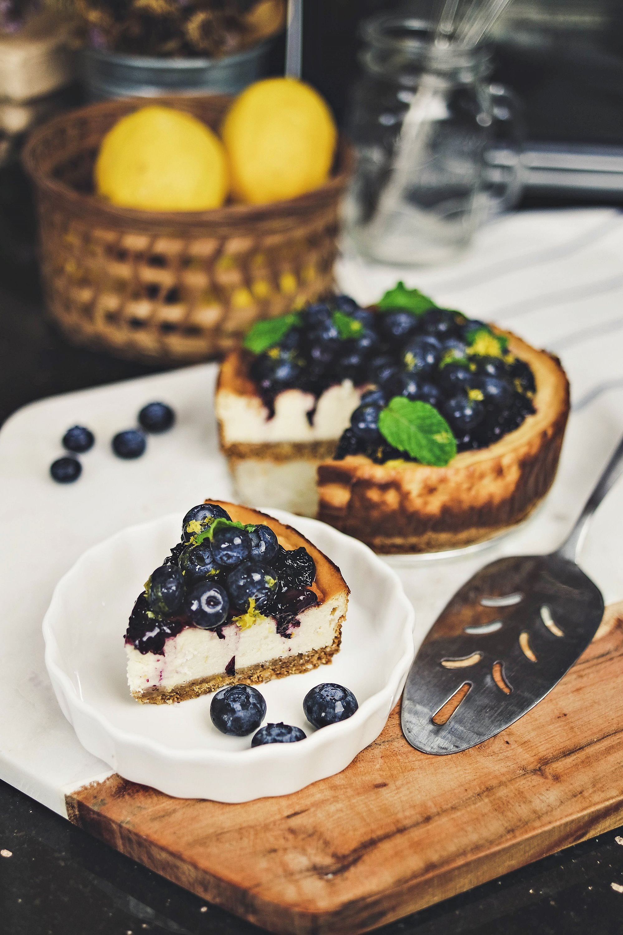 Honey Blueberry Cheesecake - Panasonic Cubie Oven