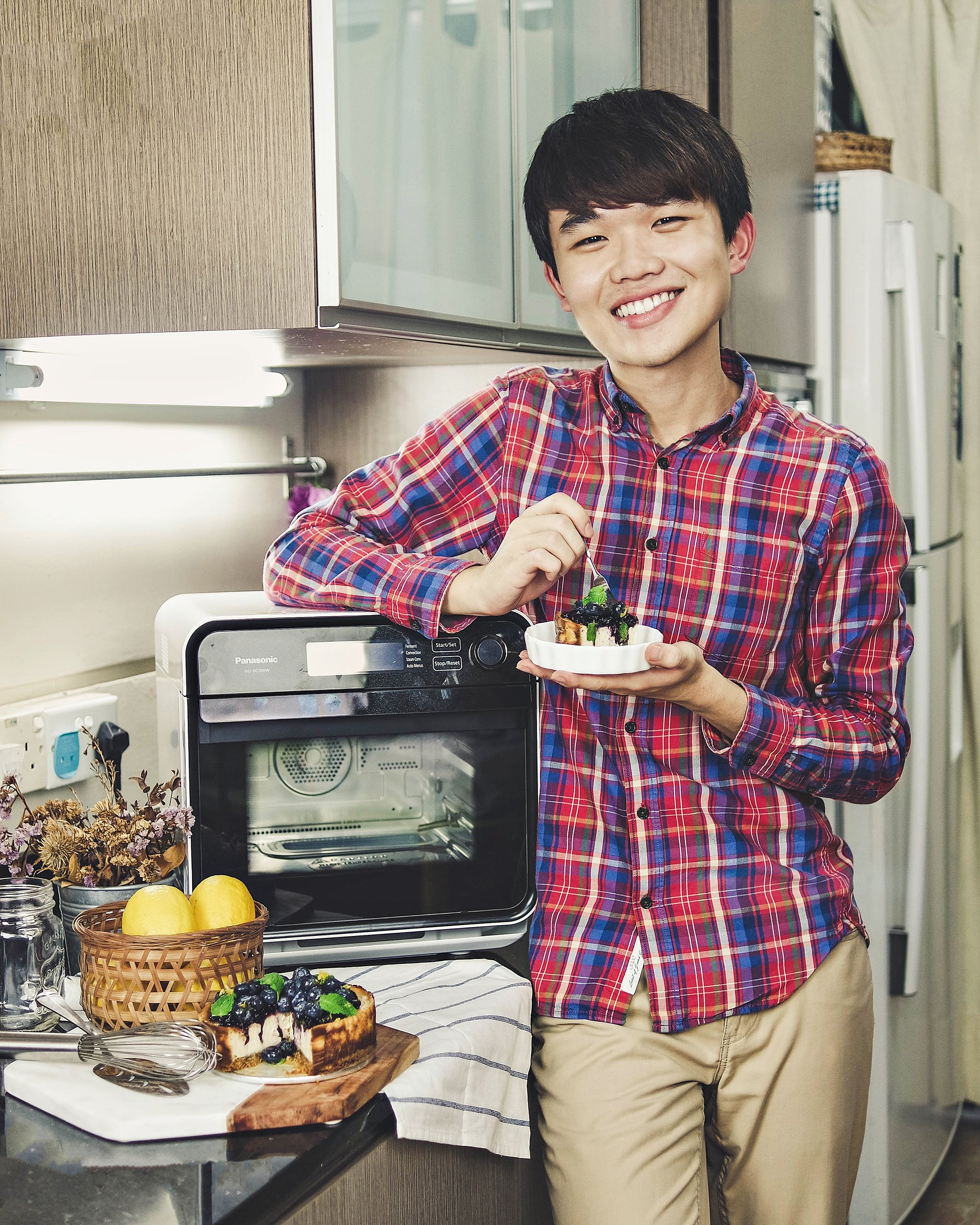 Honey Blueberry Cheesecake - Panasonic Cubie Oven