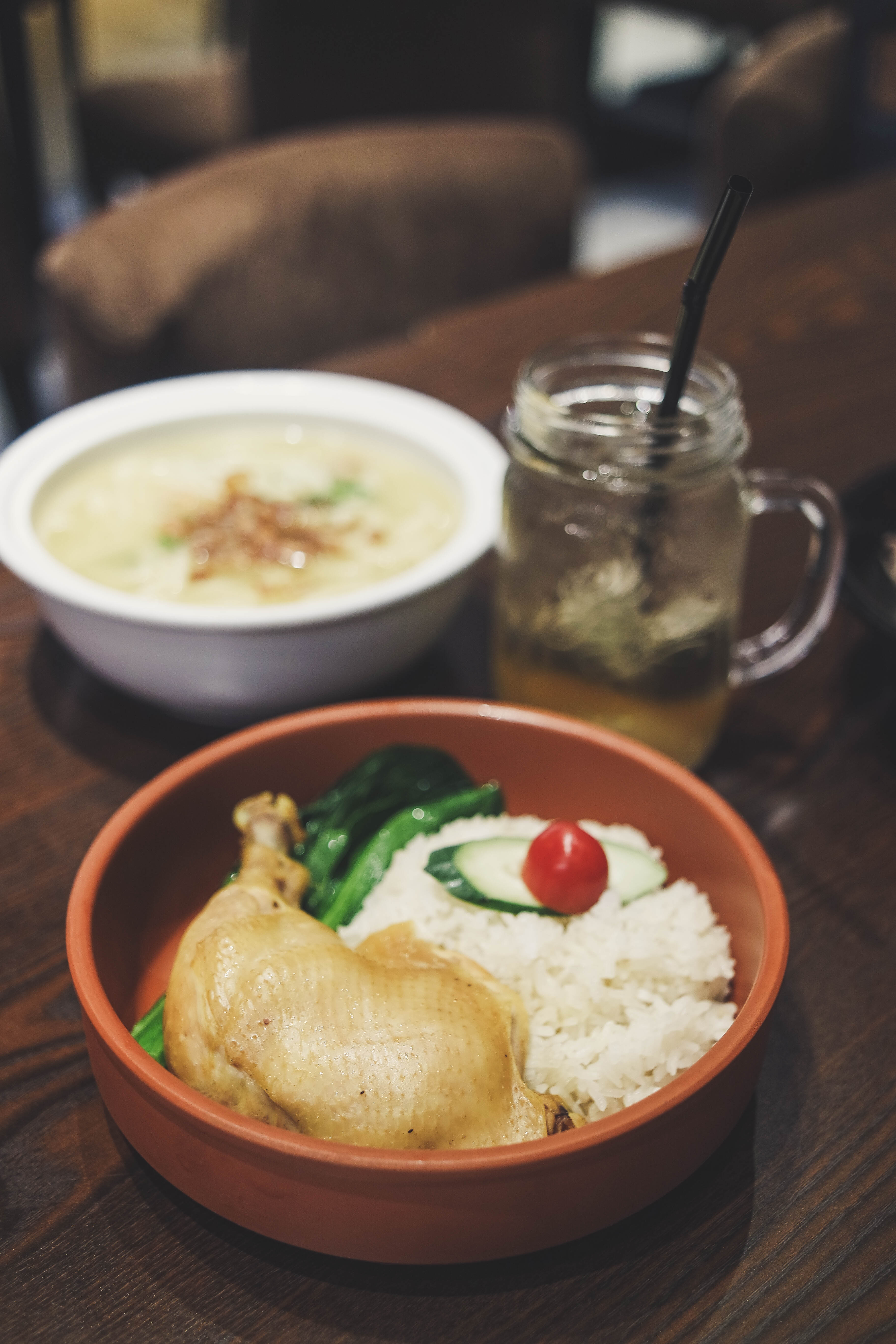 Hakka Salt Baked Chicken Rice - DejaBrew - Authentic Chinese Dialects Cuisine In One Roof