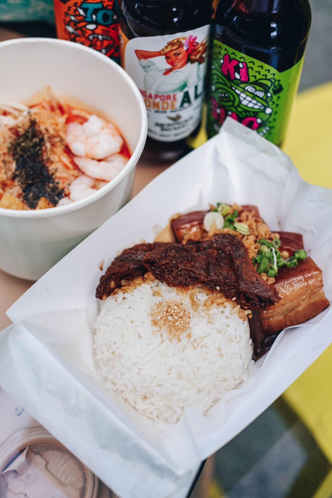 """Belly-Nice' Pork - Bugis Café - Outdoor Beers and Delights @ Studio M Hotel Singapore"