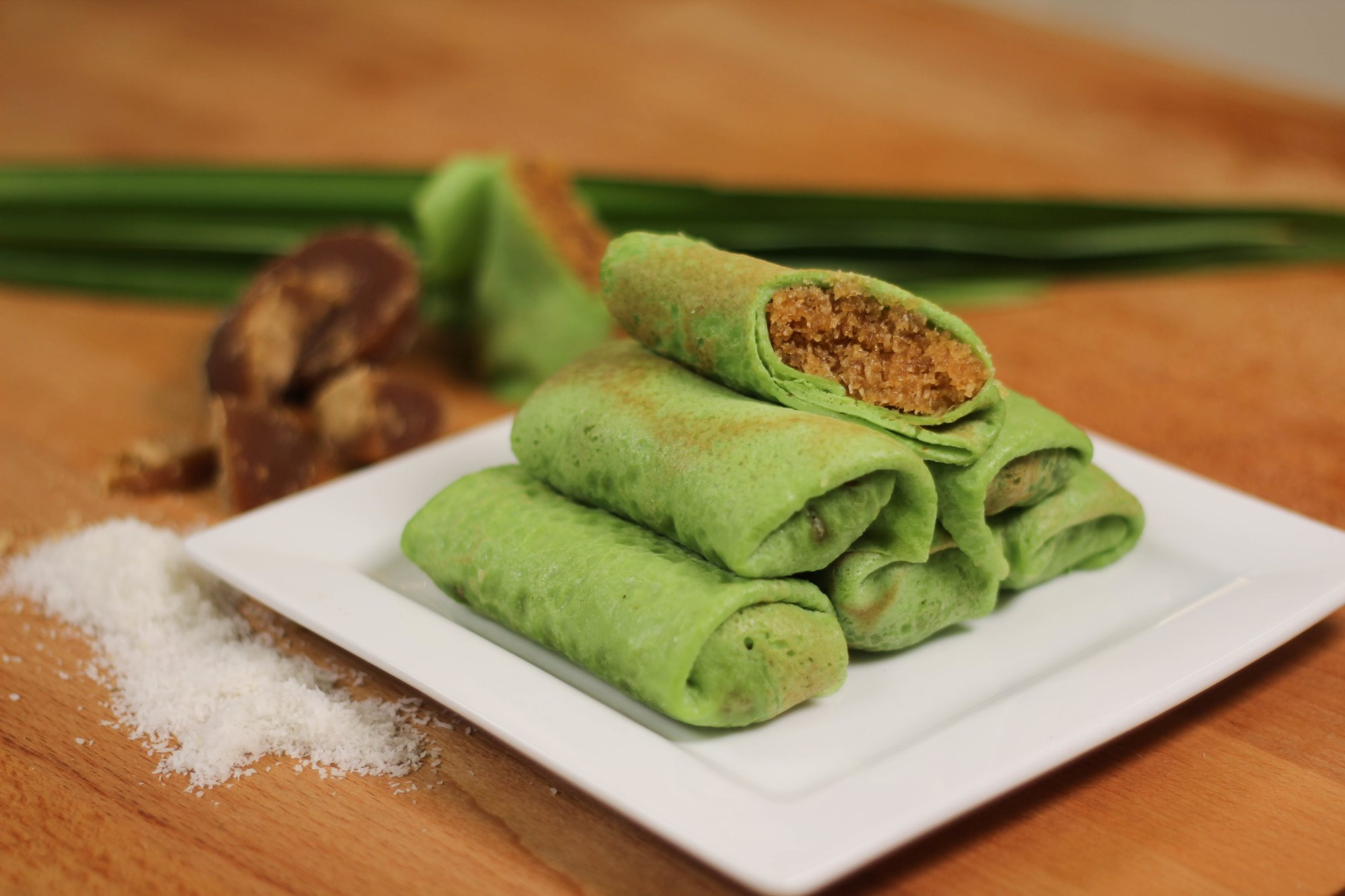 Kueh Dadar with Panasonic MX-V310 Blender