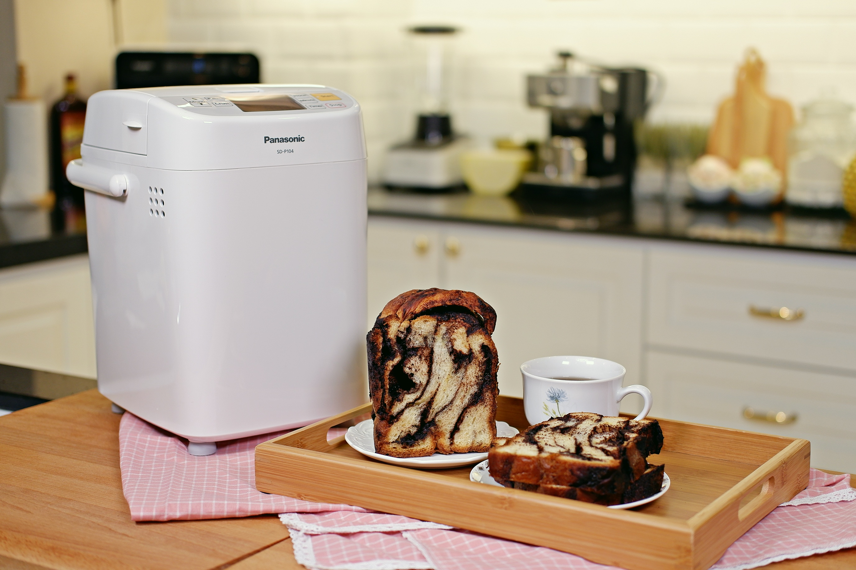 Chocolate Swirl Bread (Babka) with Panasonic Bread Maker SD-P104