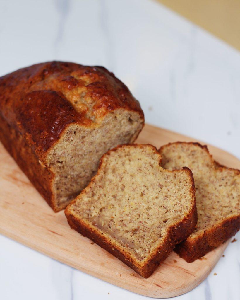Three Ingredients Banana Bread Recipe