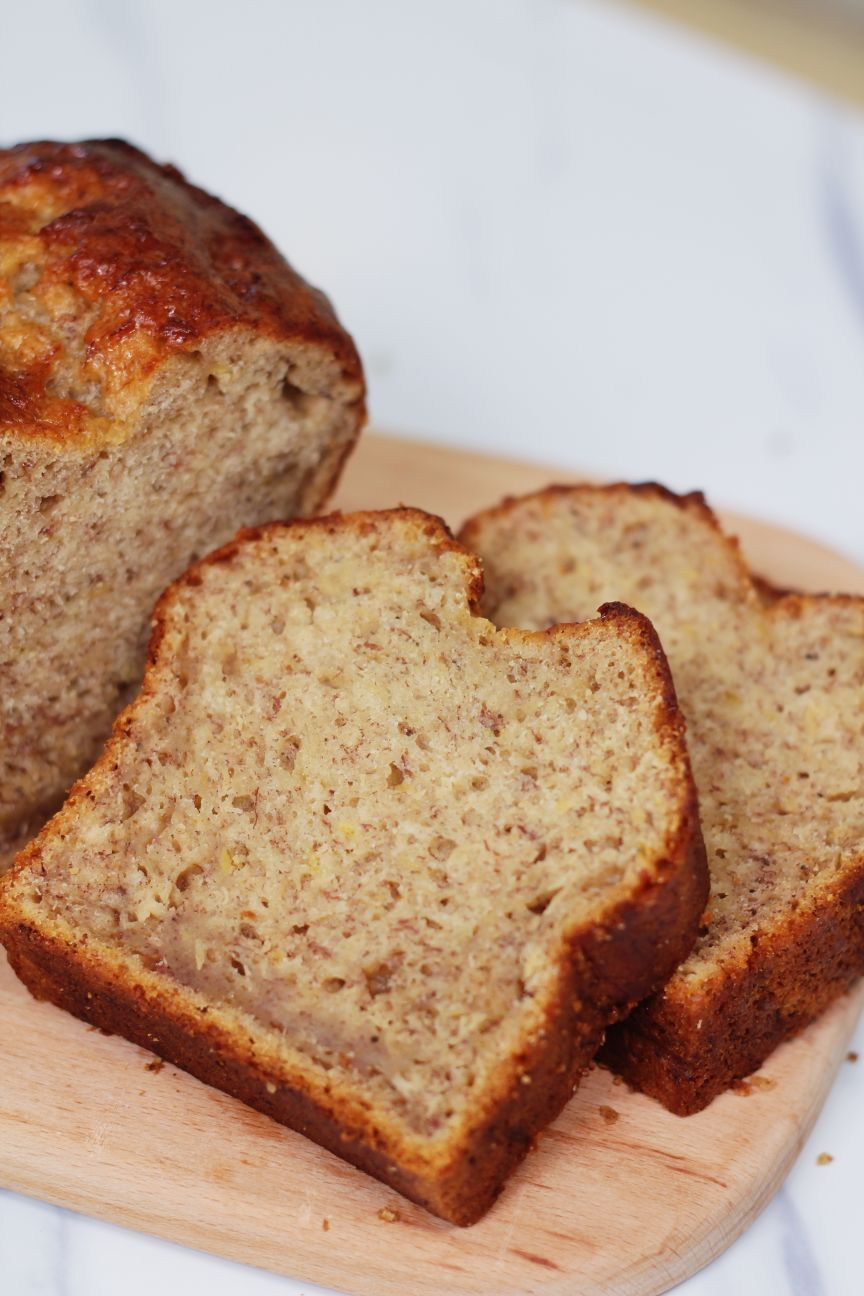 Three Ingredients Banana Bread Recipe