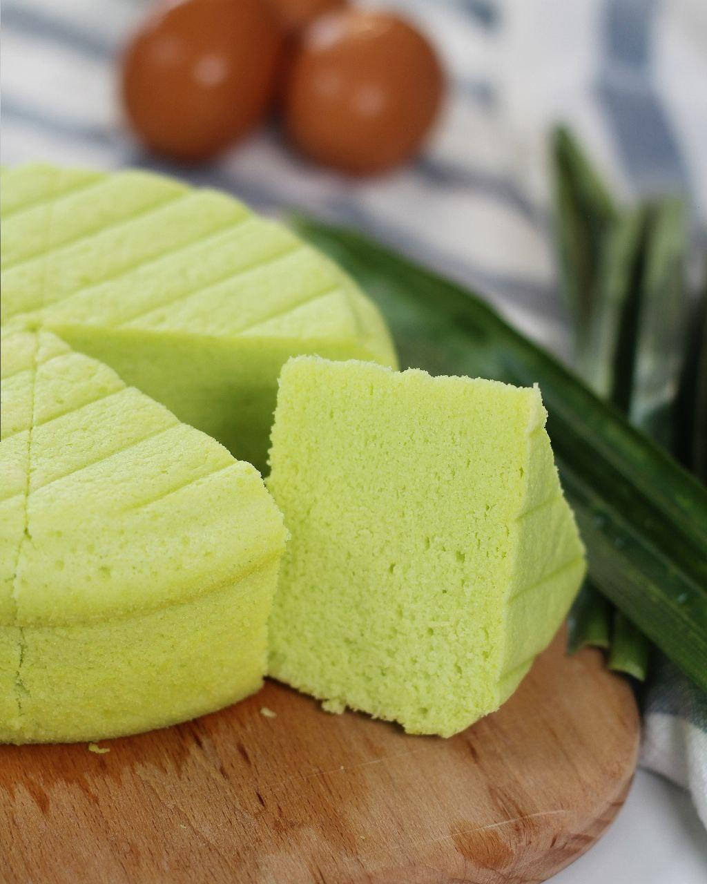 4 Recipes with Tefal Brilliance Steam Oven - Bolu Kukus Kueh Pandan (Steamed Pandan Sponge Cake)
