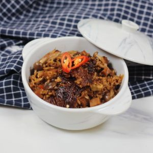Claypot Mushroom Rice - 4 Simple Rice Cooker Recipes with Tefal Xpress IH Rice Cooker