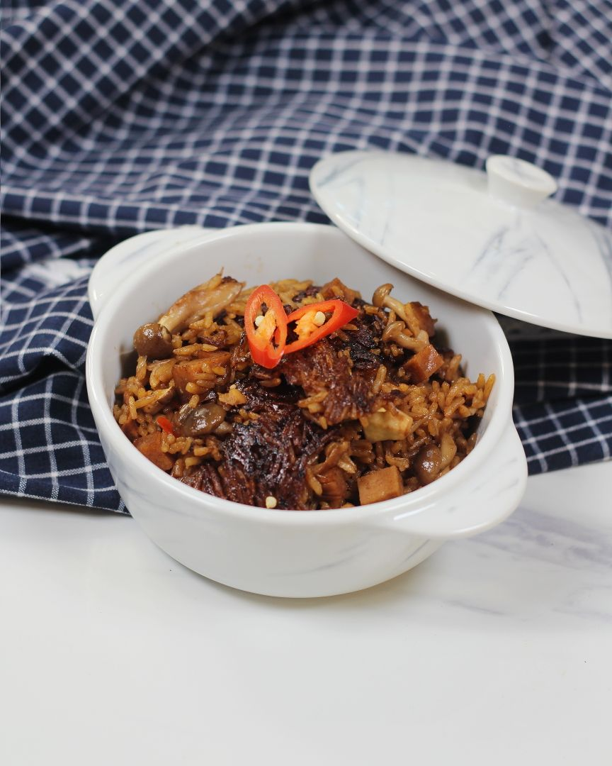 Claypot Mushroom Rice - - 4 Simple Rice Cooker Recipes with Tefal Xpress IH Rice Cooker