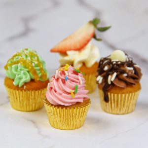 4 Flavors 1 Mini Cupcake Recipe with Städter Baking Pan