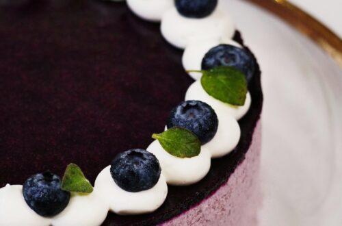 Blueberry Yogurt Cream Cake with Oregon and Washington Blueberries