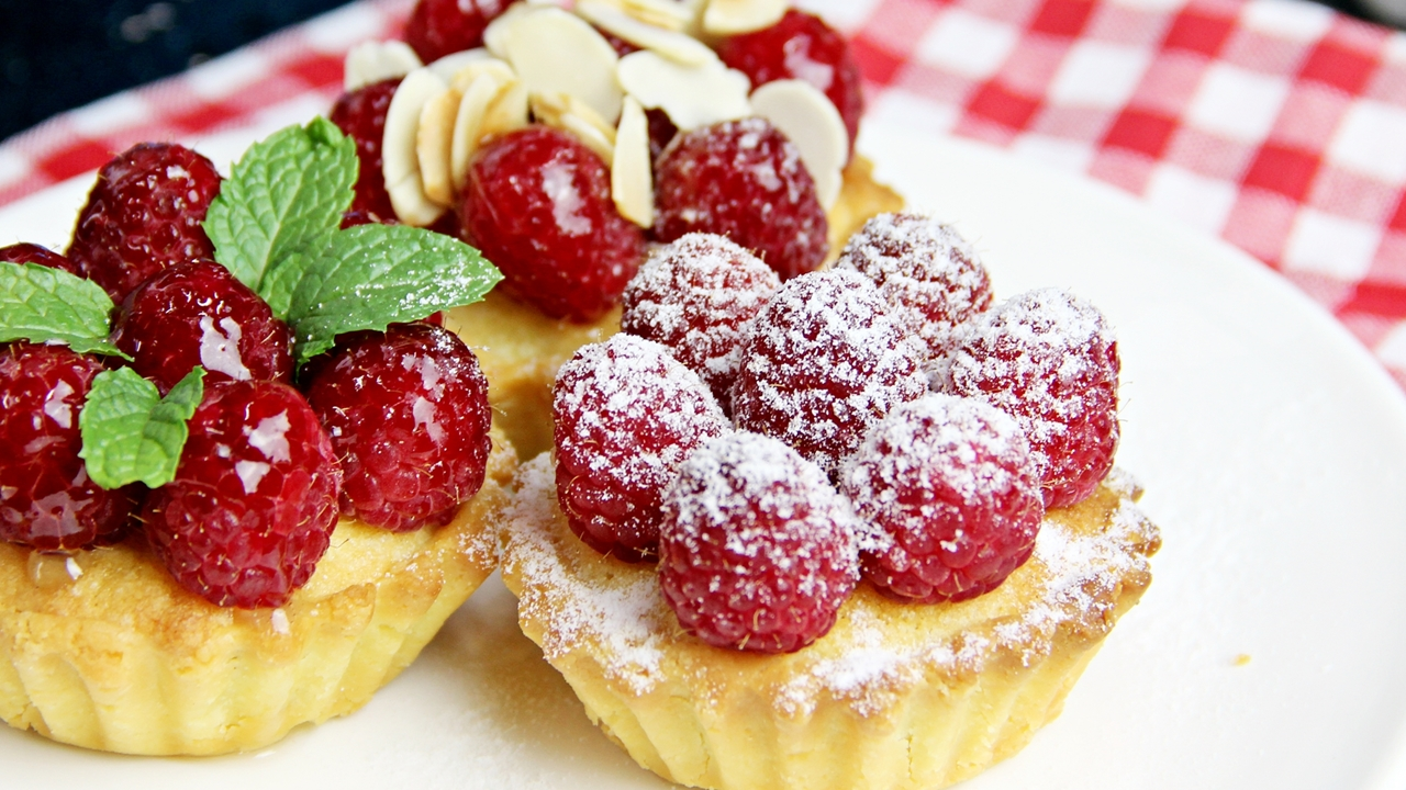Frangipane Tart with Raspberries